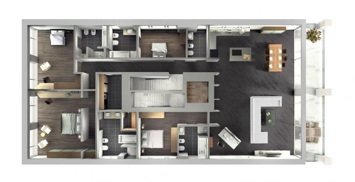 Luganer See fokuspunkt_3D_Haus am Luganer See_Dachgeschoss-fokuspunkt-Werbefotograf-3D-Visualisierung-Produktfoto-Berlin-Tempelhof