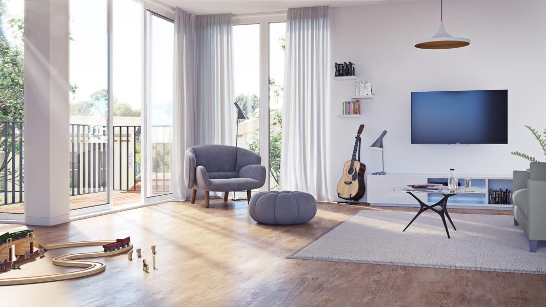 fokuspunkt | raumplaner 3d-visualisierung - fokuspunkt, Wohnzimmer