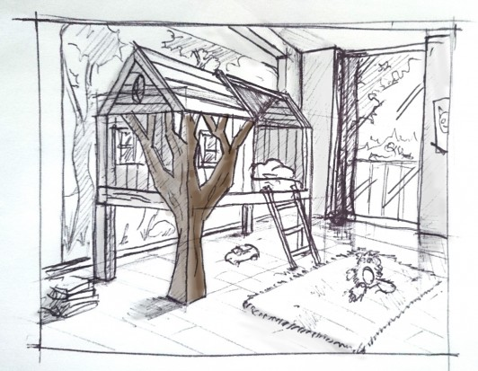 Skizze Kinderzimmer