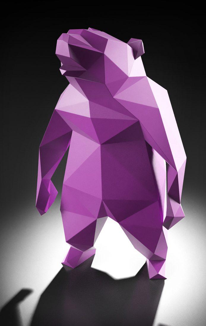 Fokuspunkt 3D Modell, Berlin Bär, rotation,CGI,rendering,animation